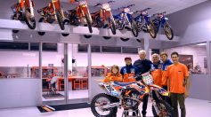 Il Presidente FMI in visita al Team KTM De Carli Racing Junior