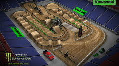 SX Houston Dynamic Track Map