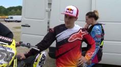 Maverick Vinales in sella alla RMZ sul circuito di Mantova