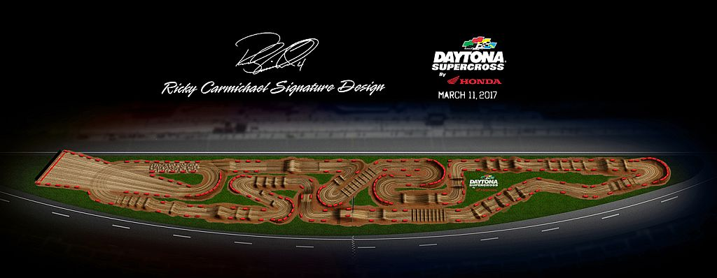 Sx Daytona track map 2017