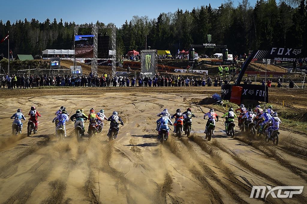 MXGP of Latvia La pagella Mid-sand start mx2
