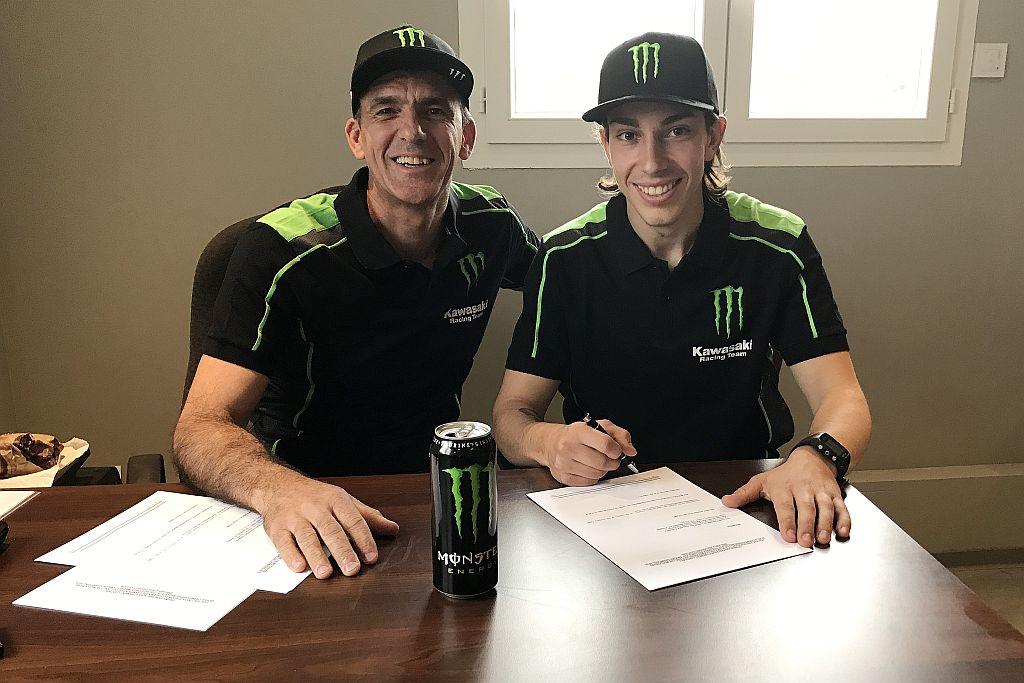 Morgan Lesiardo è un pilota Monster Energy Kawasaki