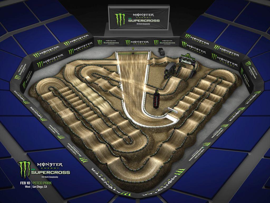 Supercross 2018 Track Maps Motocross It