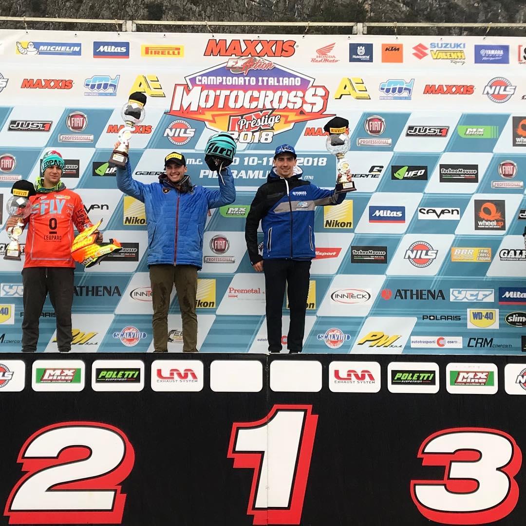 Il maltempo non ferma l'italiano MX ad Arco di Trento podio 2018