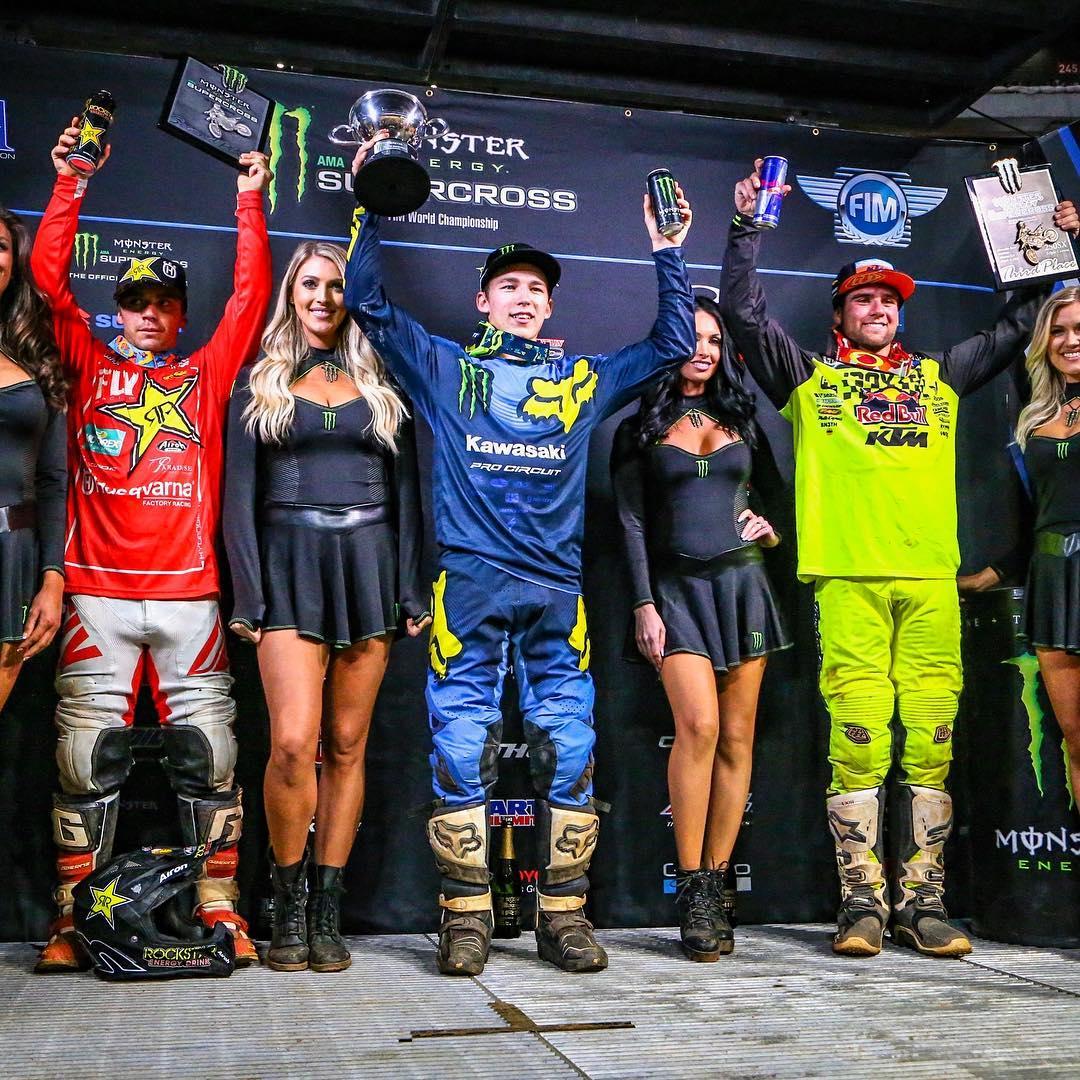 Supercross Atlanta podio 250 2018