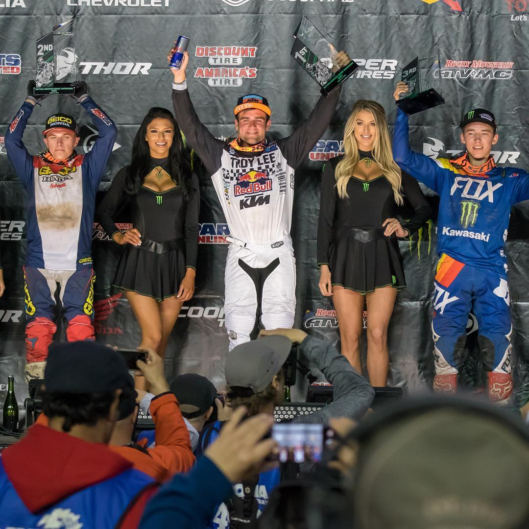 Supercross Daytona podio 250 2018