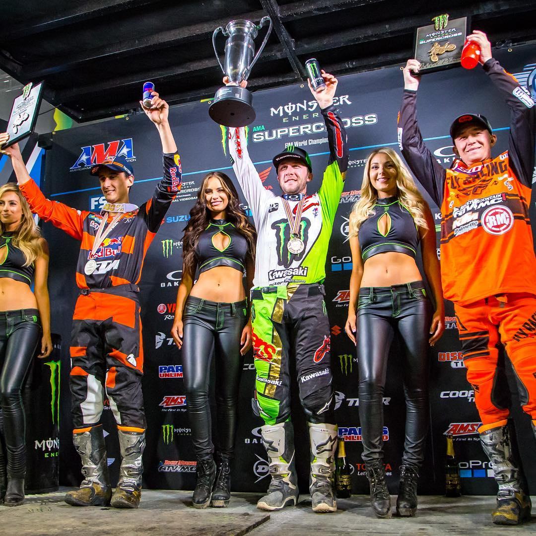 Supercross Las Vegas Tutto confermato podio 450 2018