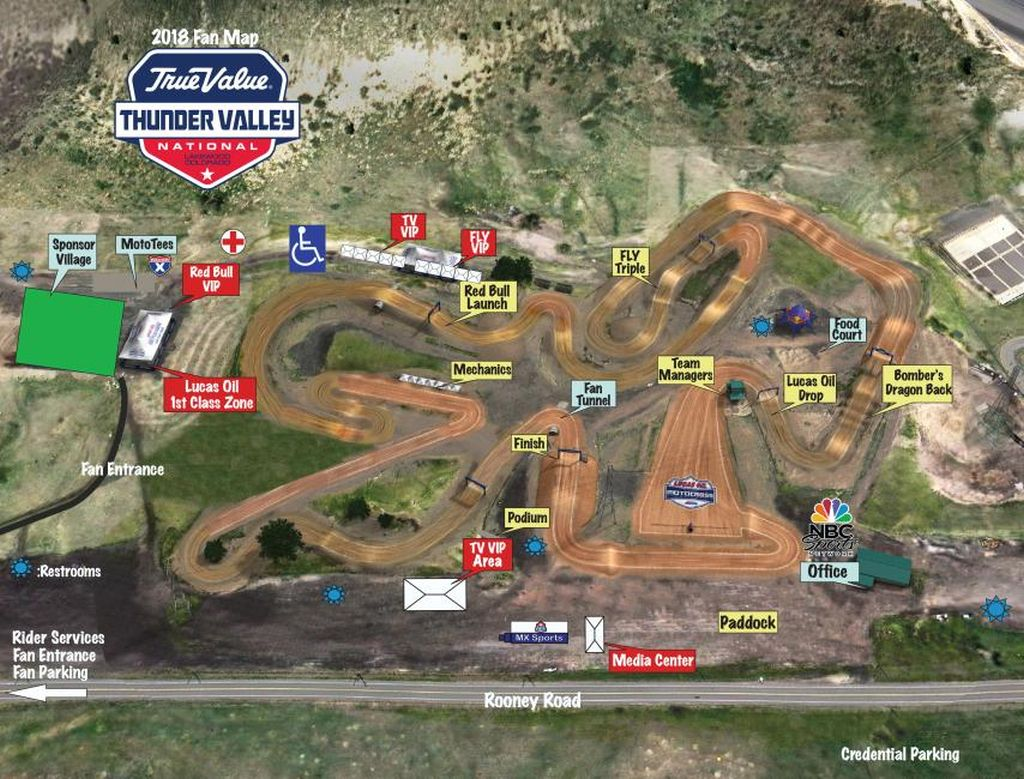 Thunder Valley MX VIDEO Track map 2018