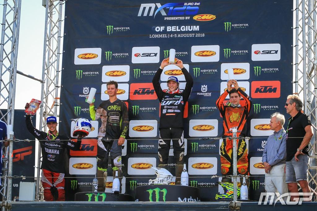 MXGP of Belgium podio emx125 2018