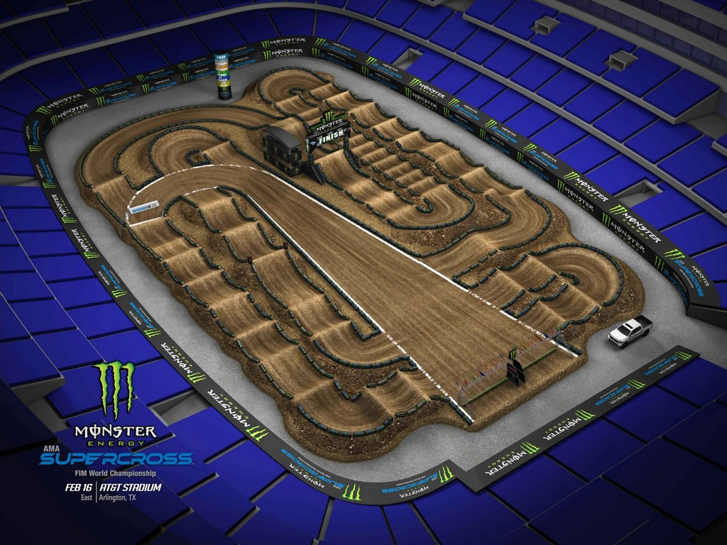 Mercedes Benz Of San Diego >> Supercross 2019 Track Maps - Motocross.it