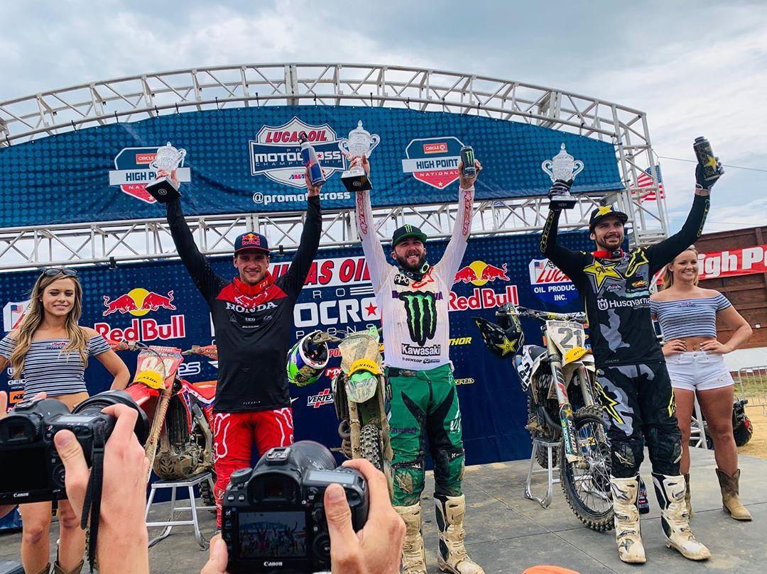 AMA National High Point 450 podio 2019