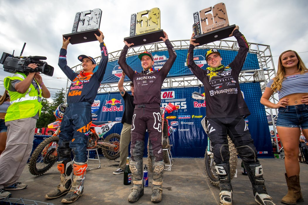 AMA National Unadilla podio 450 2019