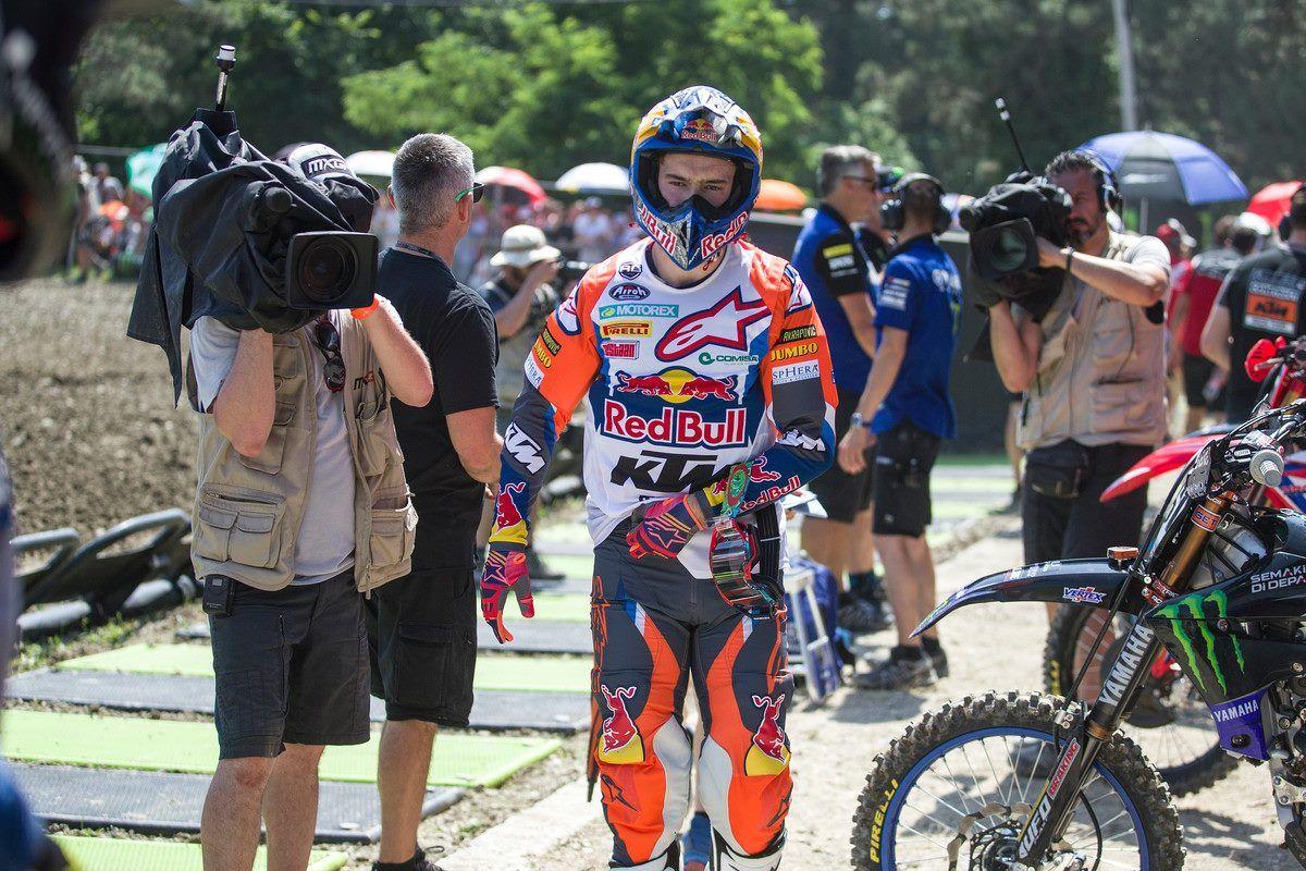 Jeffrey Herlings al via del GP di Svezia