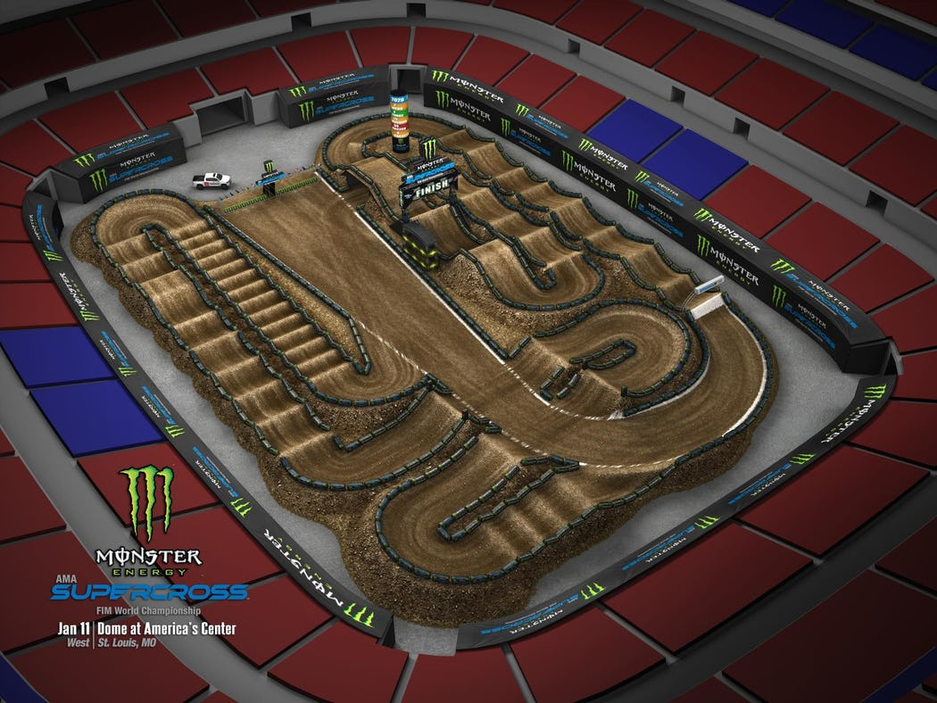 Supercross 2020 Track Maps track 2