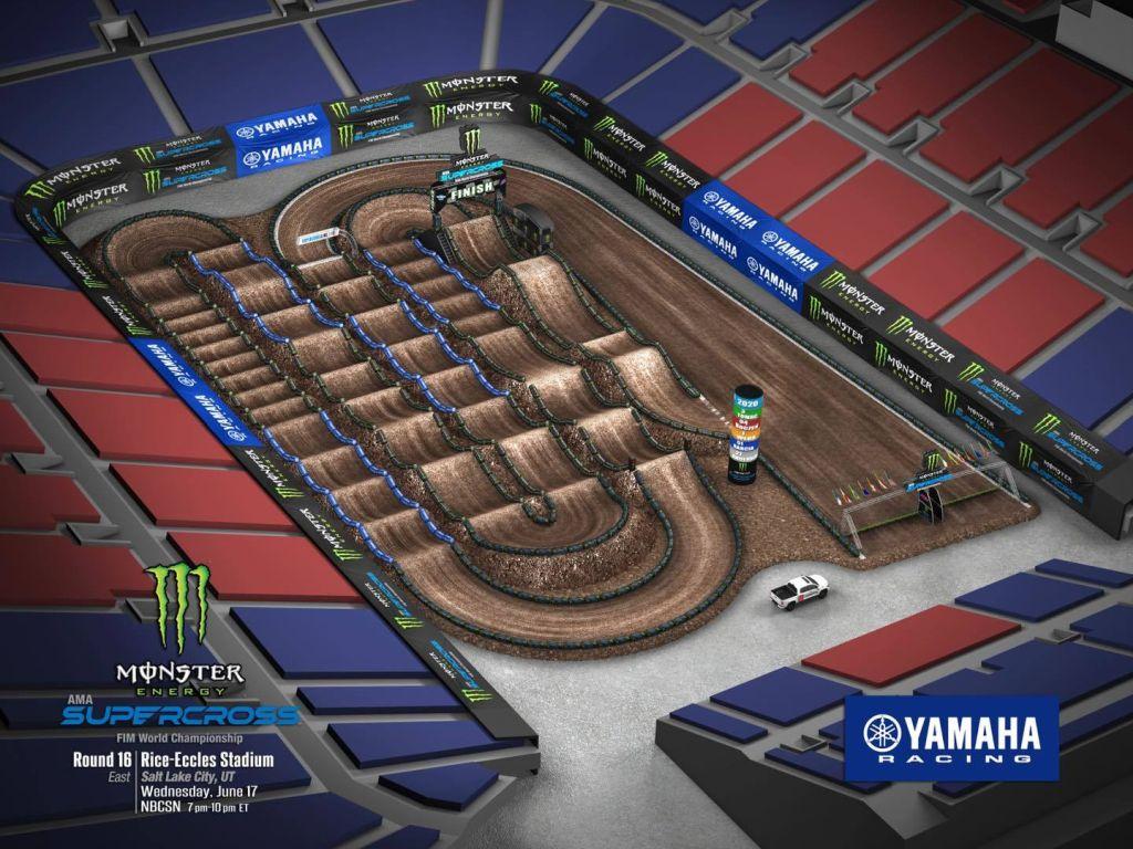 Supercross Salt Lake City 6 Race links track map A 2020