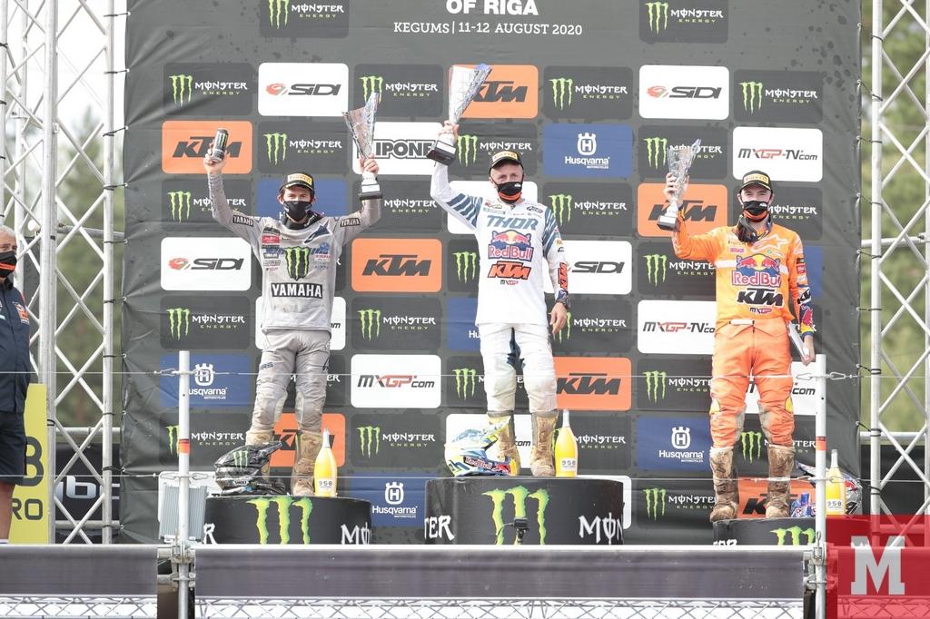 MXGP of Riga podium 450
