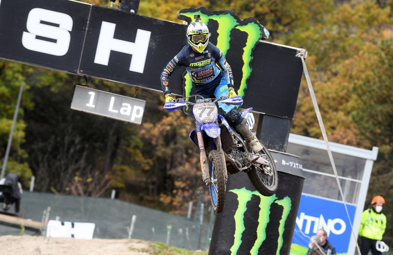 Lupino terzo di manche nel GP di Pietramurata 2020