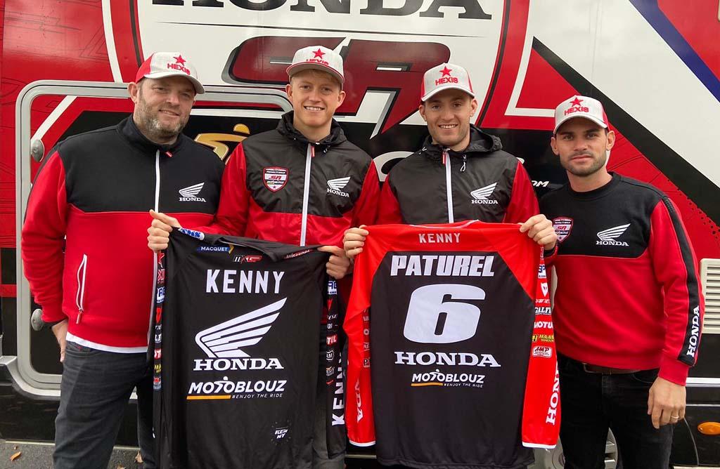 Nathan Watson e Benoit Paturel con il Team Honda France SR Motoblouz