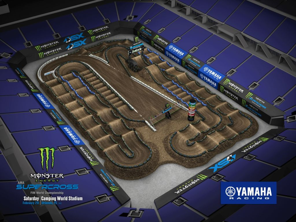 Supercross Orlando 2 VIDEO Trackmap & Entry Lists 2021