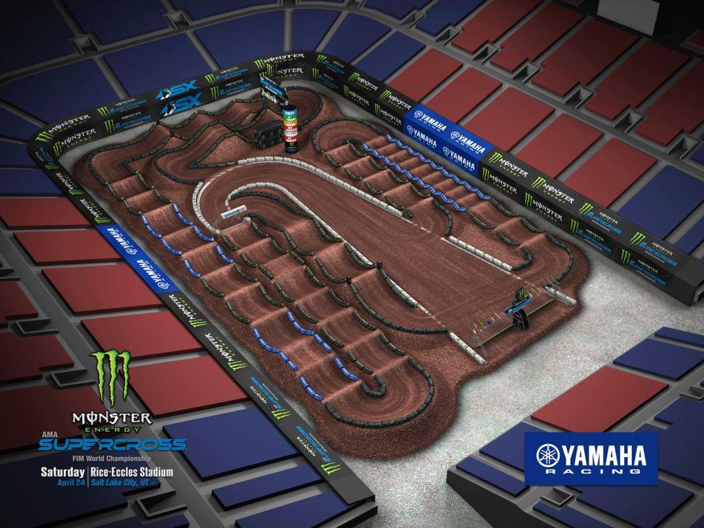 Supercross Salt Lake City 1 VIDEO Trackmap & Entry Lists 2021