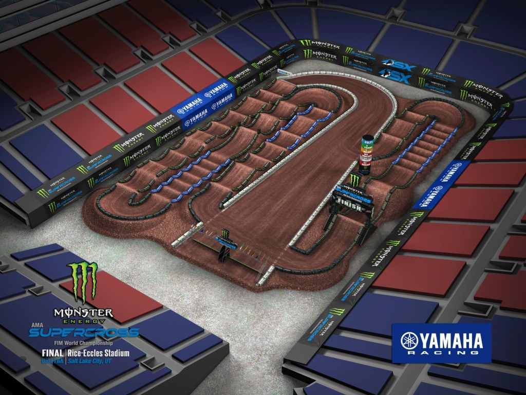 Supercross Salt Lake City 2 VIDEO Trackmap & Entry Lists 2021