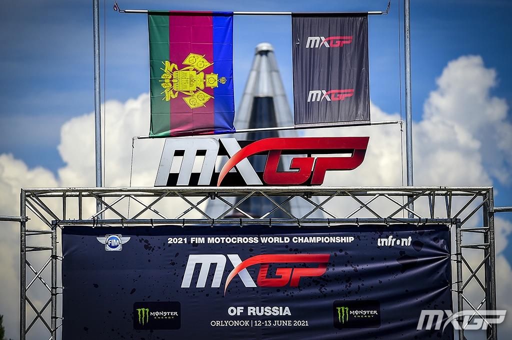 MXGP of Russia podium 2021